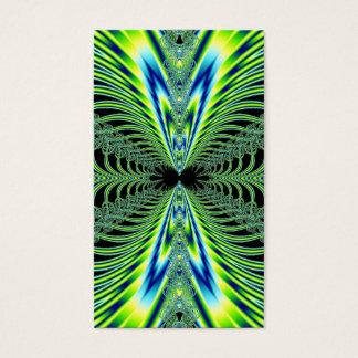 Le paon hypnotisant fait varier le pas de la cartes de visite