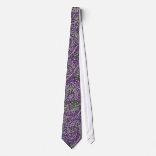 Le paon pourpre de Paisley colore la cravate de
