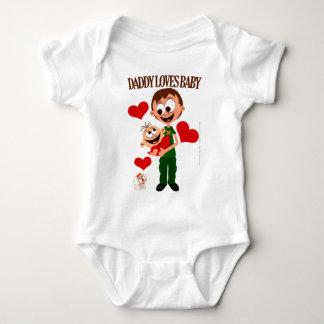 Le papa aime le bébé - les corps 01 de bébé - body