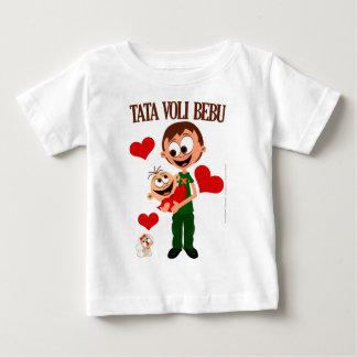 Le papa aime le bébé - T-shirt de bébé