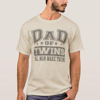Le papa du vrai homme de jumeaux font des jumeaux t-shirt