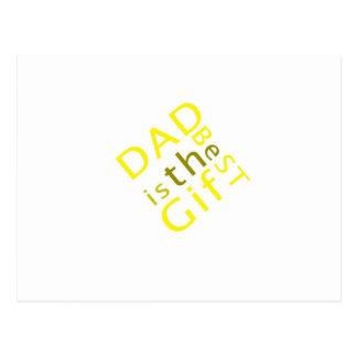 Le papa est le meilleur cadeau carte postale