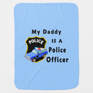 Le papa est un policier couvertures de bébé
