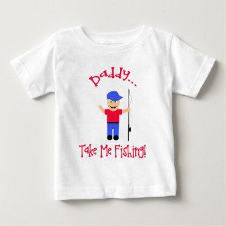 Le papa… me prennent la pêche ! Garçon T-shirt Pour Bébé