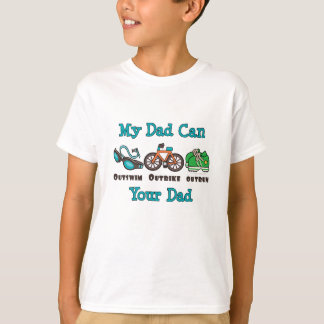 Le papa Outswim le T-shirt d'enfant de triathlon