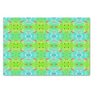 Le papier de soie de soie mignon répand vert