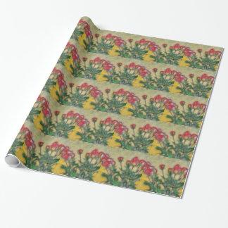 Le papier d'emballage carrelé par roses papier cadeau