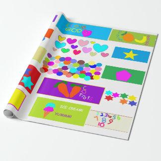 Le papier peint chrétien des enfants papier cadeau