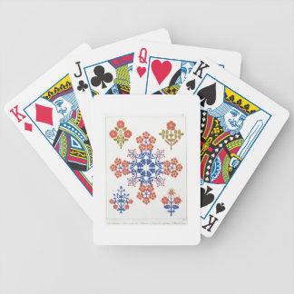 Le papier peint de motif de Violiet, d'iris et de  Jeux De Cartes