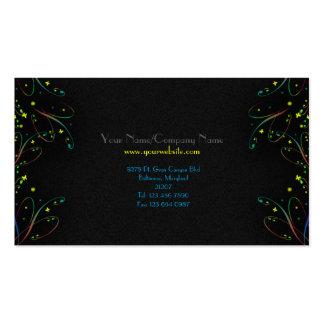 Le papillon à la mode moderne tourbillonne carte d cartes de visite professionnelles
