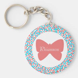 Le papillon de Rhiannon pointille le porte - clé Porte-clé Rond