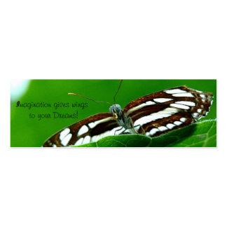 Le papillon maigre rêve des cartes de visite carte de visite petit format