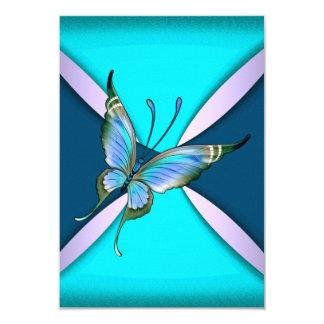Le papillon turquoise pourpre RSVP font gagner la Carton D'invitation 8,89 Cm X 12,70 Cm