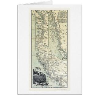 Le paquebot conduit la carte 1891 de la publicité