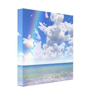 Le paradis bleu détendent l'art moderne de mur toiles
