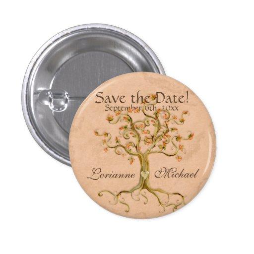 Le parchemin Antiqued par racines d'arbre de remou Badges Avec Agrafe