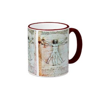 Le parchemin d antiquité d HOMME de VITRUVIAN Tasse À Café