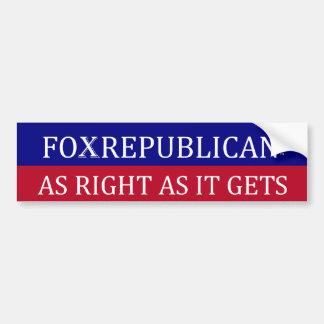Le pare-chocs de Foxrepublican autocollant-COMME D Autocollant Pour Voiture