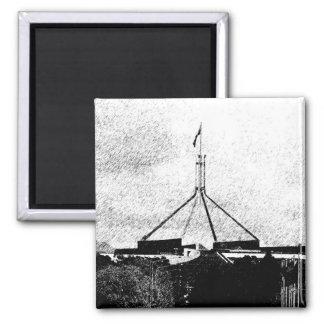 Le Parlement australien - Canberra Magnet Carré
