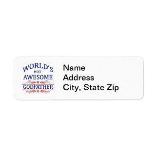 Le parrain le plus impressionnant du monde étiquettes d'adresse retour