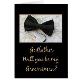 Le parrain veuillez être mon Groomsman - Cartes De Vœux
