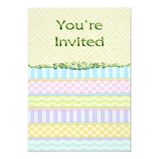 Le pastel barre le baby shower carton d'invitation  12,7 cm x 17,78 cm