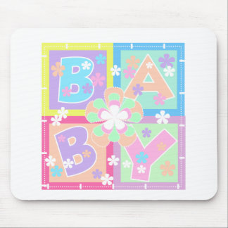 Le pastel bloque le bébé tapis de souris