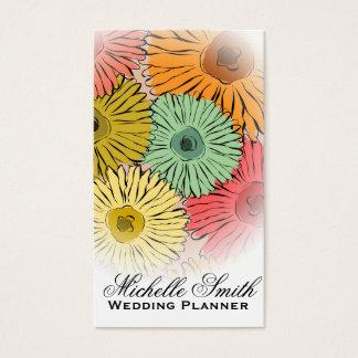 Le pastel Girly fleurit le wedding planner de Cartes De Visite