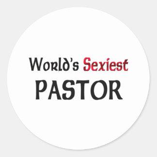 Le pasteur le plus sexy du monde autocollant rond
