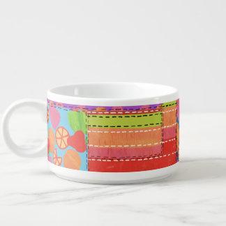 Le patchwork coloré de Faux de l'été porte des Bol À Chili