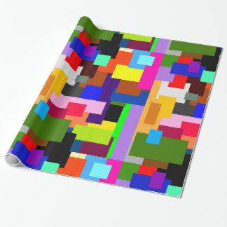 Le patchwork coloré pose le résumé moderne papiers cadeaux