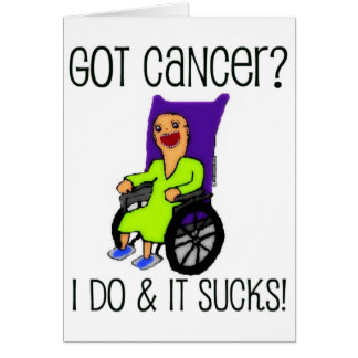 Le patient fâché a obtenu le Cancer Carte De Vœux