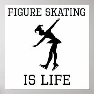 Le patinage artistique est la vie affiches