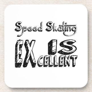 Le patinage de vitesse est excellent dessous-de-verre