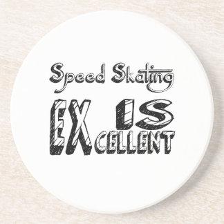 Le patinage de vitesse est excellent dessous de verre en grès
