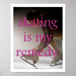 Le patinage est mon affiche de remède posters