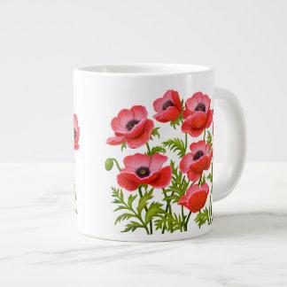 Le pavot cultivé rouge fleurit la tasse de spécial mug jumbo