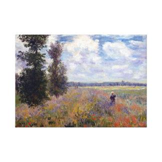 Le pavot de Claude Monet met en place près Toiles