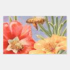 Le pavot vintage fleurit des autocollants de