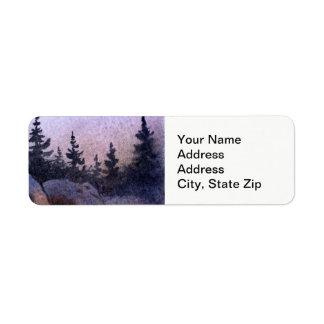 Le pays aménage le pin en parc de roches de ciel étiquette d'adresse retour