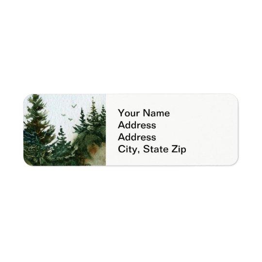 Le pays aménage le pin en parc de roches d'été étiquettes d'adresse retour
