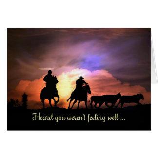 Le pays de cowboy occidental obtiennent la carte