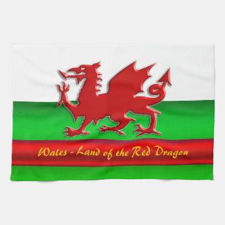 Le Pays de Galles - à la maison du dragon rouge, Serviettes Éponge