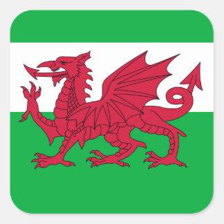 le Pays de Galles Sticker Carré