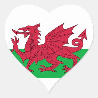 le Pays de Galles Sticker Cœur