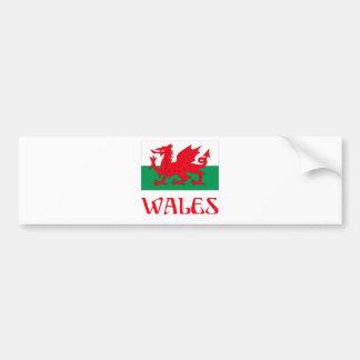 Le Pays de Galles Autocollant De Voiture