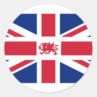 Le Pays de Galles britannique, Royaume-Uni Sticker Rond