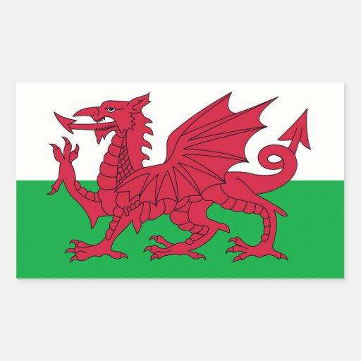 Le Pays de Galles/drapeau de Gallois - Royaume-Uni Adhésifs