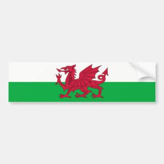 Le Pays de Galles/drapeau de Gallois - Royaume-Uni Autocollant De Voiture