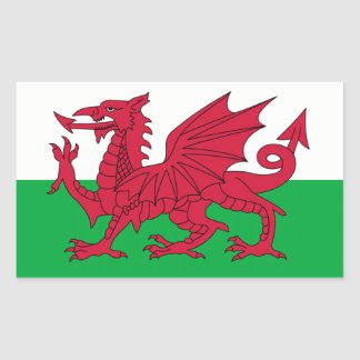 Le Pays de Galles/drapeau de Gallois - Royaume-Uni Sticker Rectangulaire